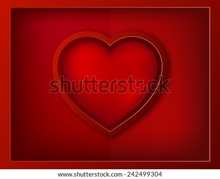 Valentines Day background with a big heart - stock vector