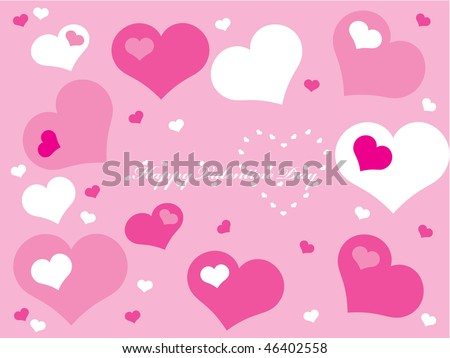 Valentines Day background with a lot of hearts