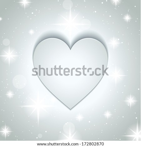 Valentines day background with heart design  - stock vector