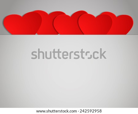 Valentines Day background with place for your text - stock vector