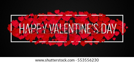 Valentines Day Banner Design Background.
