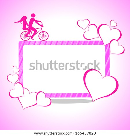 Valentines Day beautiful background with ornaments and heart.  - stock vector