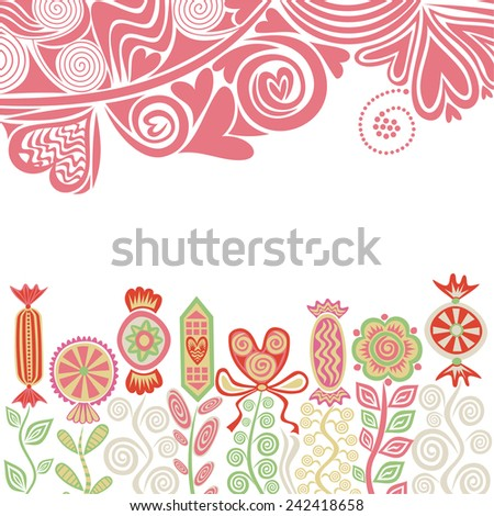 Valentines day card romantic pattern background vector illustration
