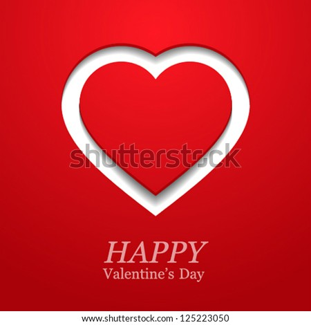 Valentines day card with heart. Vector illustration. - stock vector