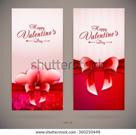 Valentines day cards - stock vector