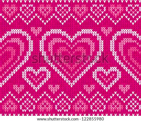 Knitting Pattern Jumper With Heart : Norwegian Pattern Stock Images, Royalty-Free Images ...