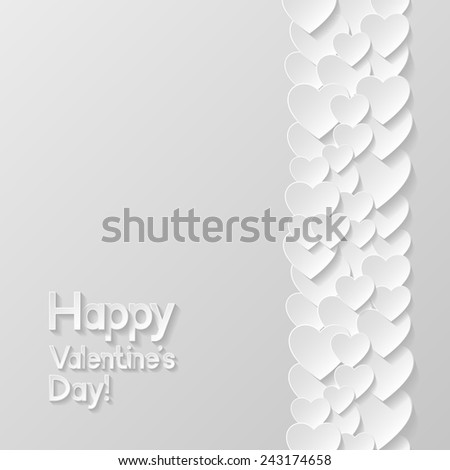 Valentines day greeting card. Vector illustration  - stock vector