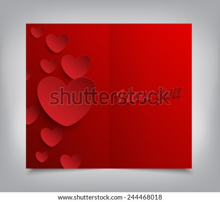 Valentines Day greeting card. Vector illustration eps 10 - stock vector