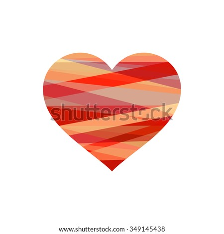 Valentines day heart. - stock vector