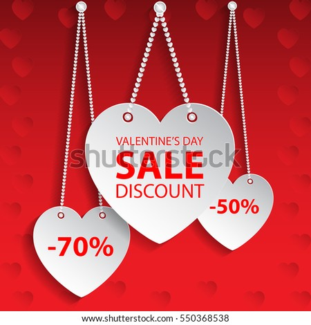 valentines day heart sale tag vector illustration hearts valentines hearts valentines day - Pictures Of Valentines Hearts