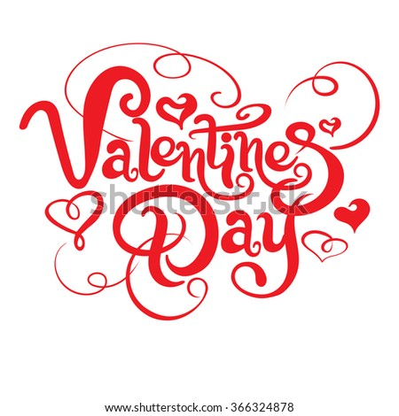 Valentines Day, Lettering, Graphic Design, Vector