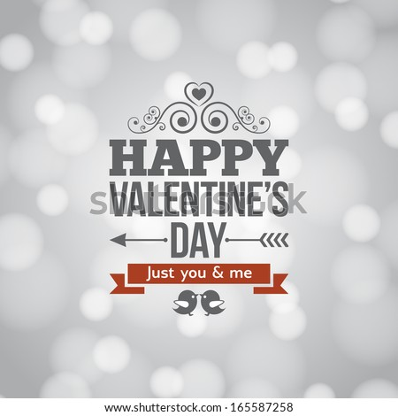 valentines day light card background - stock vector