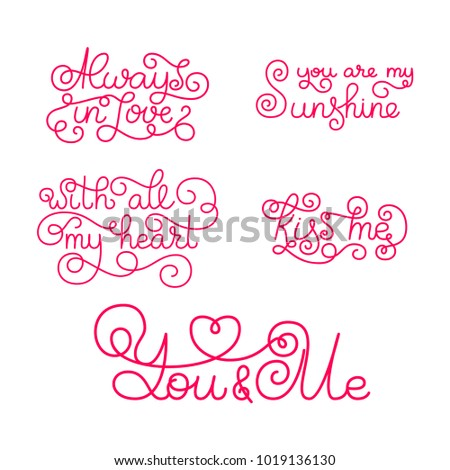 Valentines day romantic phrases template business stock vector romantic phrases template for a business card banner poster colourmoves