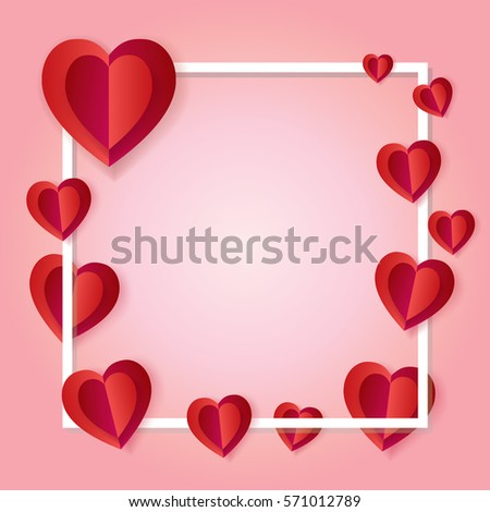Valentines Day Romantic Poster Frame Red Stock Vector HD (Royalty ...