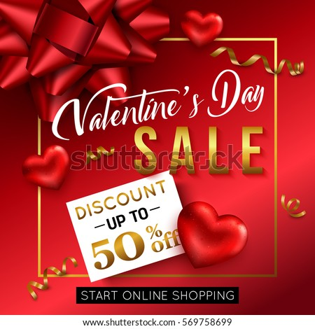 valentines day sale banner online shop stock vector 569758699, Ideas