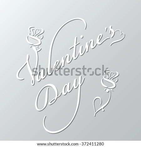 Valentines day script lettering background in eps10 format