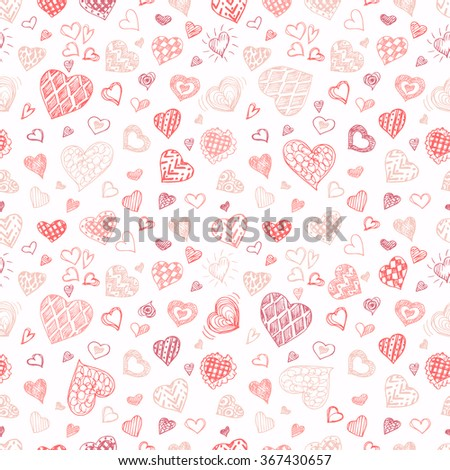 Valentines Day seamless vector pattern.