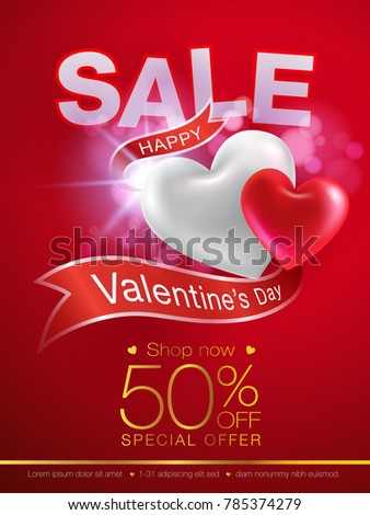 valentines day special offer flyer ribbon stock vector 785374279, Ideas