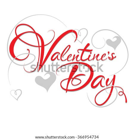 valentines day, valentines day ideas, happy valentine day, valentines day vector, valentine card, love message, love text, graphic design, i love you, valentine message, lettering, graphic design  - stock vector