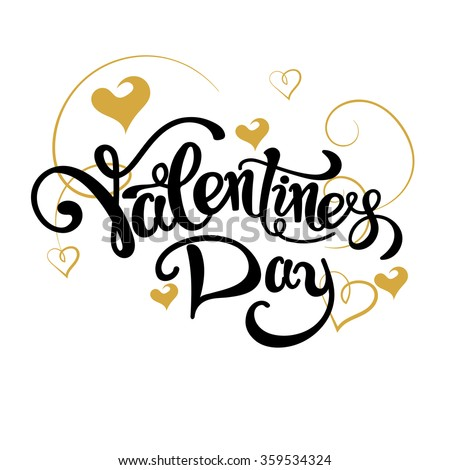 valentines day, valentines day ideas, happy valentine day, valentines day vector, valentines day gift, text, valentine card, valentine message, lettering, graphic design - stock vector