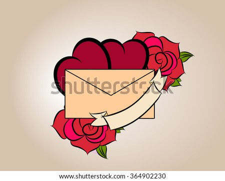 Valentines day vector illustration - stock vector