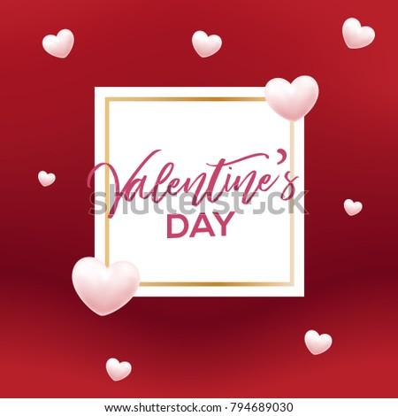 Valentines day heart shape typography greeting stock vector valentines day with heart shape typography greeting cards posters and flyers vector illustrator m4hsunfo