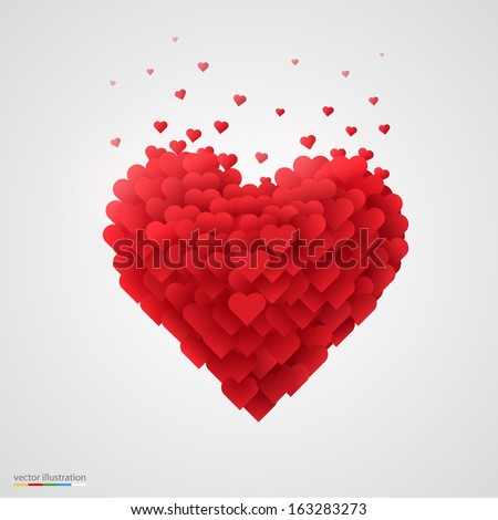 valentines heart decorative heart background with lot of valentines hearts vector illustration - Valentines Pictures Free