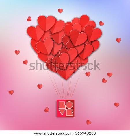 Valentines heart. Vector illustration. - stock vector