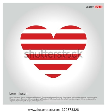 Valentines heart. Vector illustration. Romantic love pattern