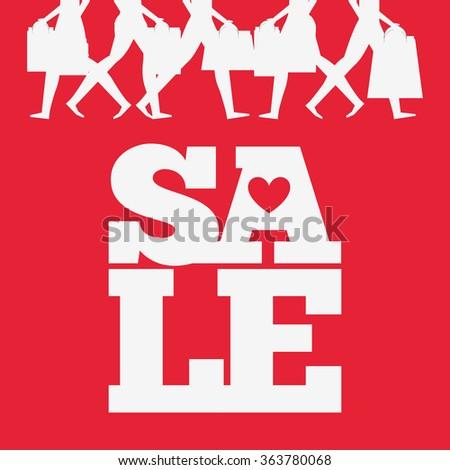 valentines sale design  - stock vector