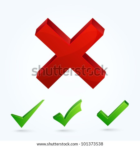 Validation icons. This vector image is fully editable. - stock vector