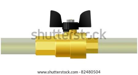valve. vector - stock vector