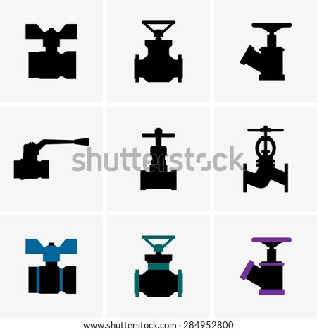 Valves - stock vector