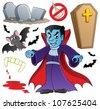 Vampire theme collection - vector illustration. - stock photo