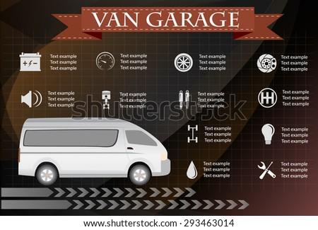 van service, repair Infographics. vector illustration - stock vector