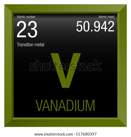Vanadium stock photos royalty free images vectors - Vanadium symbol periodic table ...