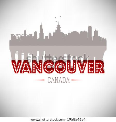 Vancouver Canada, vector illustration. - stock vector