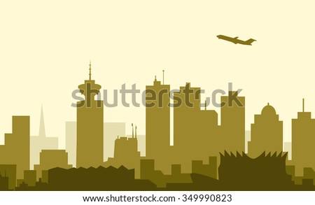 Vancouver Morning City Skyline-Vector