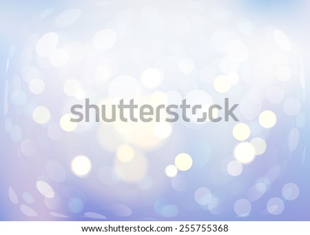 Vanilla vector bokeh background. Abstract with defocused lights. - stock vector