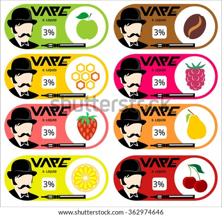 E Juice Sticker Design