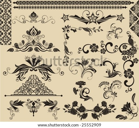 Varied element for design - stock vector