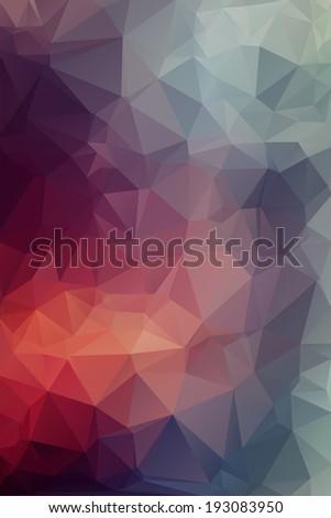 Varios Abstract polygonal background. - stock vector