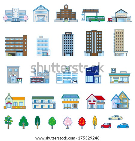 Various building - stock vector