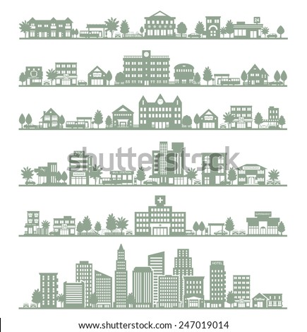 Various city - stock vector