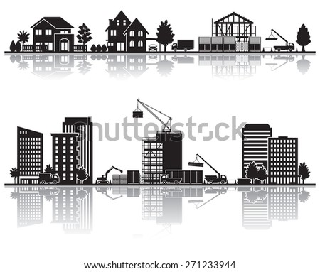 Various city / Construction - stock vector