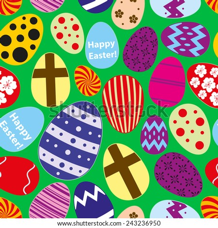 various color Easter eggs design seamless pattern eps10 - stock vector