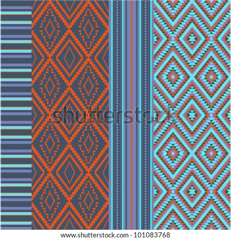 Various colored motifs - stock vector