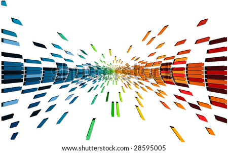 various colors and shapes pixel - stock vector