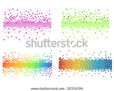 various colors pixel - stock vector