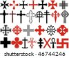Various cross vectors collection - stock vector